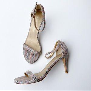 Stuart Weitzman 5.5 Bisque Prizm Multi Color Heel